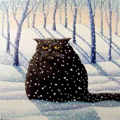 illustratosphere:  Snowy by Vicky Mount