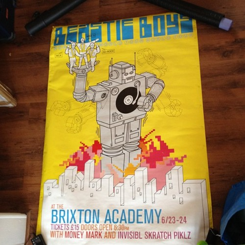 Massive Beastie Boys poster, to be framed up for Woody's playroom! #bensposters  (Taken with instagram)
