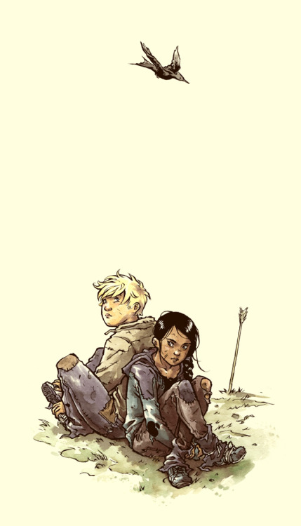 Katniss and Peeta by Ross Campbell (Source)