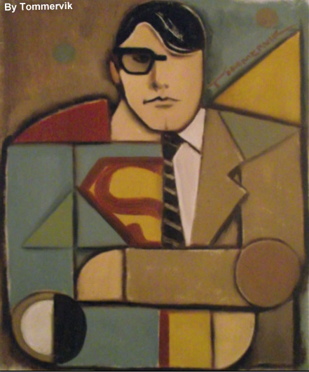 fyeahsuperheroes:  SUPERMAN PAINTINGBy: TOMMERVIK