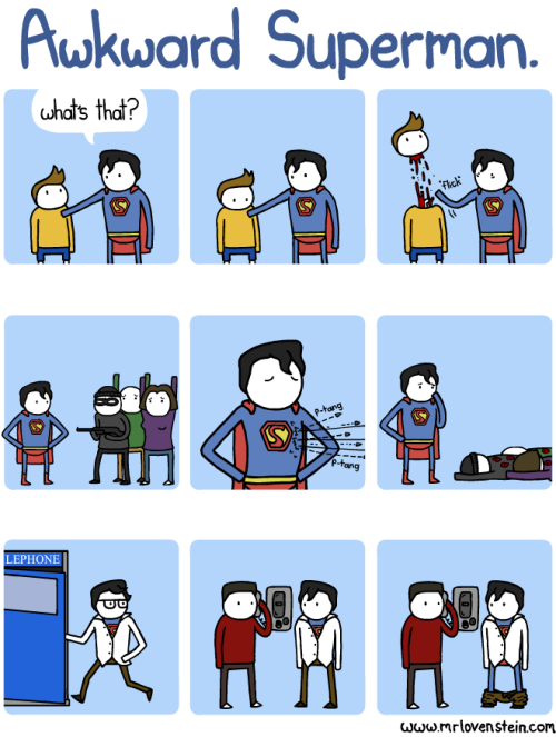 ▶ Awkward Superman is awkward