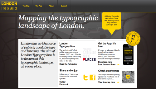 Mapping London's Typography http://www.londontypographica.com/