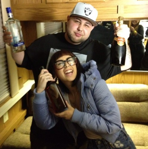 kreayshawn-news:  Kreayshawn and Dj Fatboy
