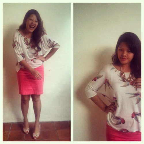 #ootd: I honestly don't remember what was so funny! (Taken with instagram)