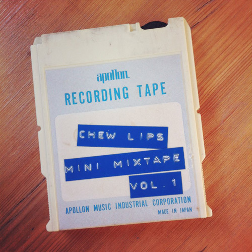 Listen/download mixtape from London-electropop-trio Chew Lips ..  tracklist: Caramba - Fedora / Kia Ora  MIA - Bad Girls  Chris Brown - Look At Me Now (feat. Lil Wayne & Busta Rhymes)  Prince - I Would Die 4 U  LV - Northern Line (feat. Joshua Idehen)  Beck - Get Real paid  Carlos d'Alessio - Tika Tika Walk  Chew Lips - Do You Chew?  Andre Jacquemin - Um Bongo, Um Bongo (They Drink It In The Congo)