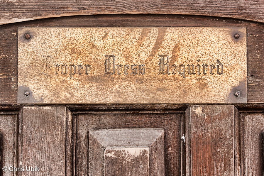 A Door as Outdated as its Requirement Shot in Historic Ellicott City, MD.