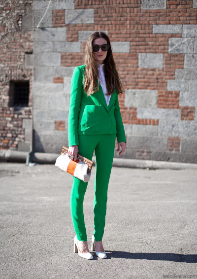 fashion-streetstyle:  On the street…Silvia, Milan Beautiful.