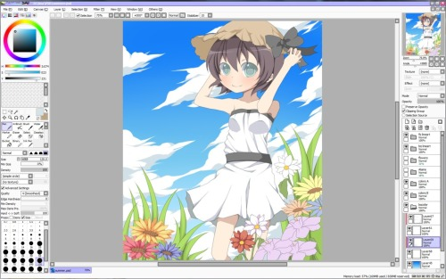 Progress on my summer-themed art. Did I even improve on my own art or what..