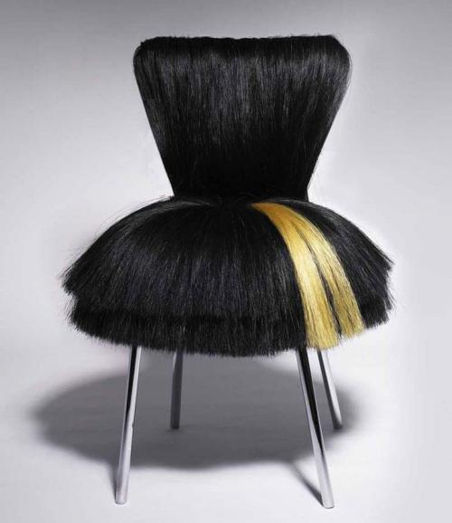 jeffybruce:  Things that make you say …. whoa!!!! hair chair, hair design, furniture, interior design, fashion, weirdness