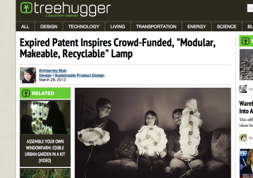 We're so proud and excited to see our little Loomi lamp featured on Treehugger!  Thanks, guys!