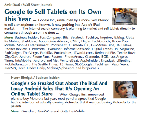 Scan through Techmeme and you'll see a showcase of headline writing and audience targeting.