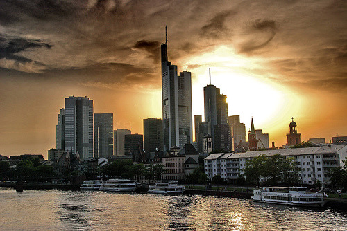allthingseurope:  Frankfurt, Germany (by chrish_ffm)  I will be seeing this soon again :)