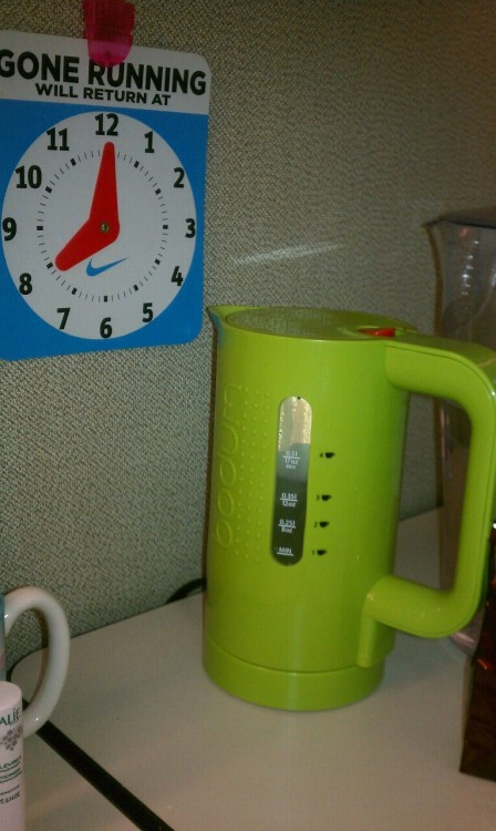 Tea at work.  Keeps me going.