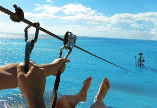 Zip Lining at Garrafón Natural Reef Park, Cancun
