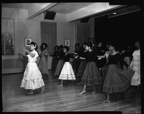 holdthisphoto:  Argentine Dancers at Howard University, 1963 by Scurlock Studio  An Argentine dancer instructing a group of women at Howard University in February 1963. Another gem from the Scurlock Studio.