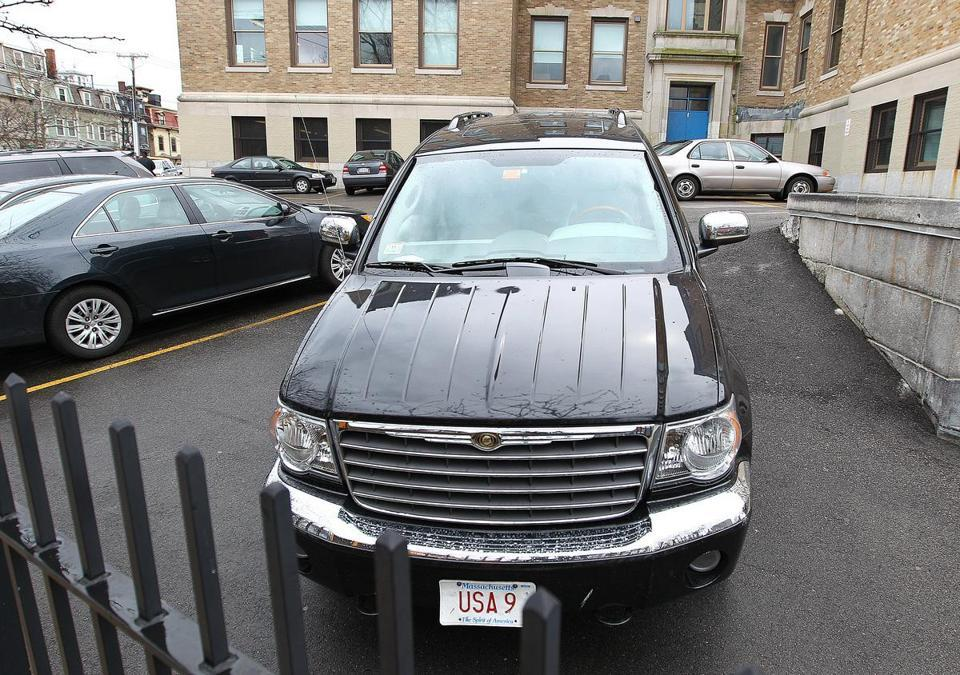 Congressman Lynch finds a privileged space in parking wars  - Tow trucks in South Boston's Telegraph Hill twice passed over an SUV owned by US Representative Stephen F. Lynch that was parked in an area where cars are usually towed.
