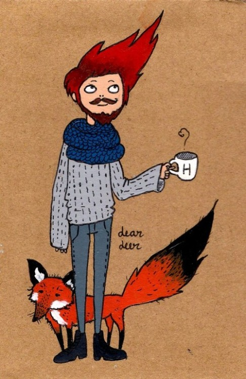 aplethoraofbeards:  deerpeople on We Heart It.