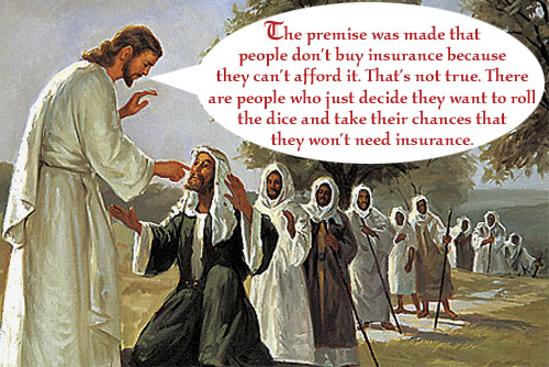 #ILikeObamacare  #SoWouldJesus because good insurance reduces the need for on-the-spot miracles.