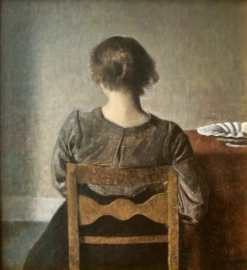 cheatingdeath:  Vilhelm Hammershoi