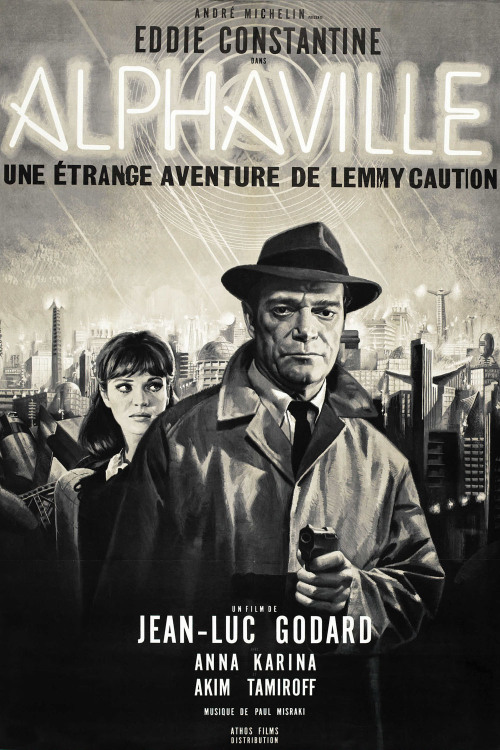 Jean-Luc Godard: Alphaville (1965) In many ways, Jean Luc Godard's Alphaville remains cinema's most unconventional science fiction film. With science fiction, filmmakers usually ask the audience to believe that certain technologies have advanced, or in the case of dystopian scenarios such as the brilliant Blade Runner, that technologies have advanced and subsequently corrupted society, standing as a testament to the foolishness of blind faith in progress. Godard, on the other hand, has made a film that asks its audience to take downtown Paris as the center of the galaxy by eliminating all special effects and simply shooting the film in the nocturnal, fluorescent and neon lit interiors of hotels and office buildings. That this technique works so well (much better than many films with millions of dollars worth of effects) represents only one of the triumphs of this remarkable work. Besides being the only film in history where the galaxy is, in effect, saved by poetry (here Paul Eluard's gorgeous poems in the book La Capitale de la Douleur), Alphaville teems with an eccentric mix of high and low culture. read more
