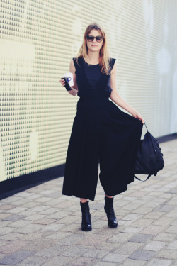 topshop:  Great jumpsuit - a lesson in how to work head to toe black!