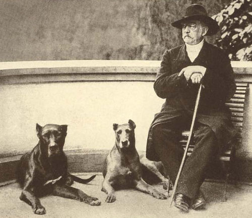 Bismarck and his dogs. Yep.
