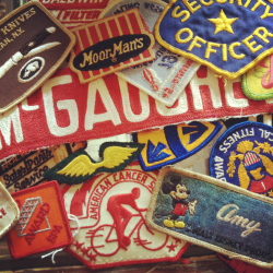 From a recent picking trip. Lots of inspiration to be found with old patches.