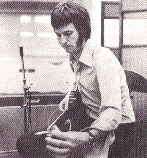 Eric Clapton in the studio with John Mayall and the Bluesbreakers (March, 1966)