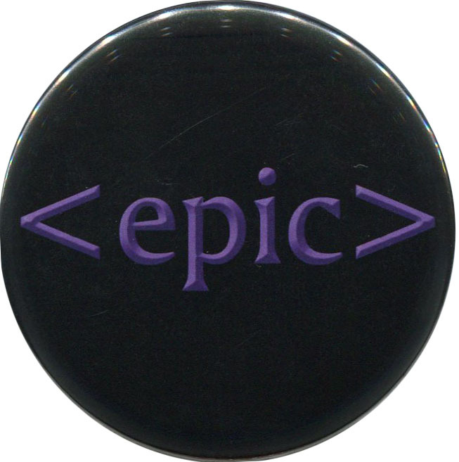 """Epic"" available from http://antieuclid.com/geek/gaming/world-of-warcraft/epic-2-25-round-button-magnet-keychain-mirror.html"