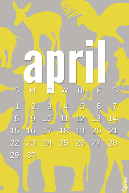 April's free digital calendars are up and are quite fun, if we do say so ourselves!