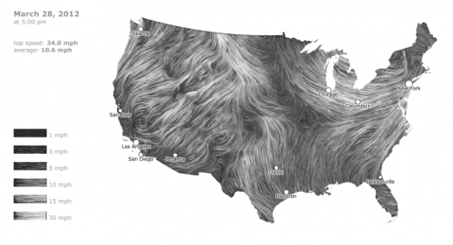 (via Wind Map | Visual.ly)