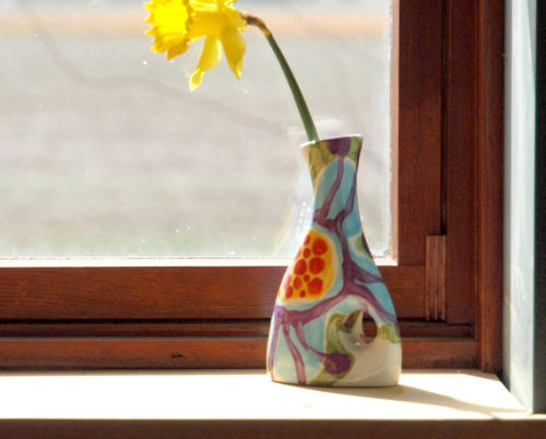(via Vase Jubilation Large Envelope Vase Colorful by romyandclare)