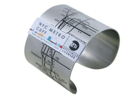 deptofhighfives:  This subway map bracelet passes the dept's test of awesomeness.  I need to get myself one of these, especially since I'm moving to NY in a couple of days! This would be remarkably useful for navigating this brave, new city. It seems to only show Manhattan lines, though I would've expected a more complete version that included the other boroughs, or at least Brooklyn too.