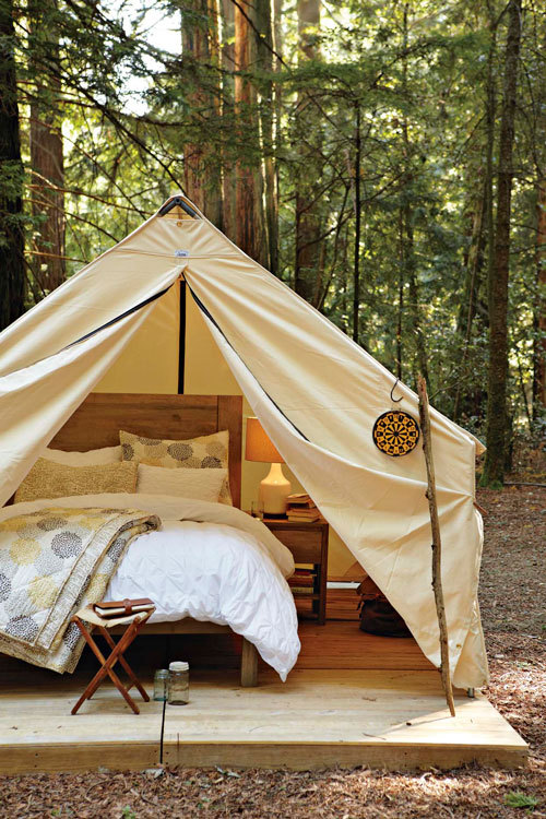 faerie-wonderland:  this is my kind of camping.