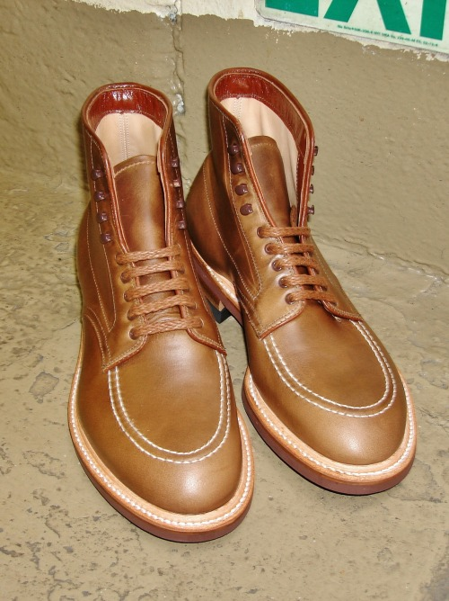 Alden #41144 Natural Chromexcel Indy Boot Modified Last