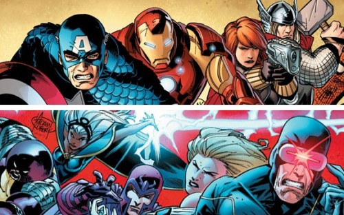 "10 MATCH UPS TO LOOK FORWARD TO IN AVENGERS VS X-MEN #10 Storm vs Thor- The God Of Thunder vs The Godess Of Weather. Both of them are evenly matched and share pretty much the same powers besides weather manipulation. This should be a great match up. #9 Rogue vs She Hulks (Red & Green)- For the first time Rogue is in complete control of her powers, she's also been perfecting other mutants powers and teaching them how to use the full range of their gifts. We know she's got a history with Green She-Hulk, so it should be interesting to see her throw down with the both of them over control of the Jean Grey School. #8 Colossus (Juggernaut) vs Red Hulk vs The Incredible Hulk- We've all seen the teasers showing Red Hulk vs Colossus but the most interesting part of this battle will be when The Incredible Hulk gets involved. I expect to see total destruction and alot of Hulk Smashing.  #7 Namor vs Thing & Luke Cage-From the teasers we know this fight will be going down in water which gives Namor a distinct advantage, but I wouldn't count Thing & Luke Cage out just yet. Things rivalry with the King Of Atlantis goes back to the early days of the Fantastic Four and Luke Cage never backs down from a fight. #6 Wolverine vs The X-Men- We know Logan will start off on The Avengers side so he's bound to go toe to toe with some of his friends as well as some his current students. I for one am hoping we get to see another fight between him & Cyclops like they had in ""Schism"". #5 Iceman vs Spiderman- These two have been friends for ages, but recently Iceman unlocked the full potential of his powers and learned he could create copies of himself and literally pull moisture from the air. Spiderman on the other hand as a gadget to counteract every foe so we'll see what he's got in store for his old buddy. #4 Magneto vs Iron Man- The Master Of Magnetism vs The Worlds Greatest Inventor. These two have a mutual dislike for one another as seen in ""Magneto Not A Hero"". We know Ironman made a special suit that isn't made of metal but Magneto's powers are practically limitless. This should be a great match up #3 Uncanny X-Force vs Secret Avengers- Both are the black-ops squads for their respective teams. I have no idea if we'll actually get to see this match up since Rick Remender's Uncanny X-Force series isn't tying into to AvX but both of these squads would match up perfectly and there would already be an established history between certain members of each squad such as Pyslocke & her brother Captain Britain.   #2 Cyclops vs Captain America- For most people this is the #1 match up they want to see, the two respective leaders of each team squaring off in a fight to the death. We know we'll get the 1st round of this in AvX #1 and i'm sure there will be plenty more. #1 Wolverine vs Captain America- Weapon I vs Weapon X. These two have been friends since WWII and have fought side by side on numerous occasions but I have a feeling we'll finally get to see these two go at it in AvXat some point."