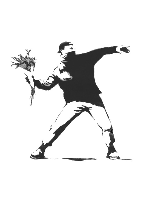 kindlescreens:  Banksy: Flower thrower