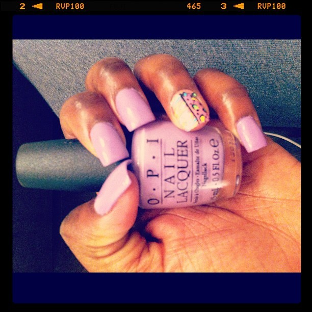 Spring Nails💜 (Taken with instagram)