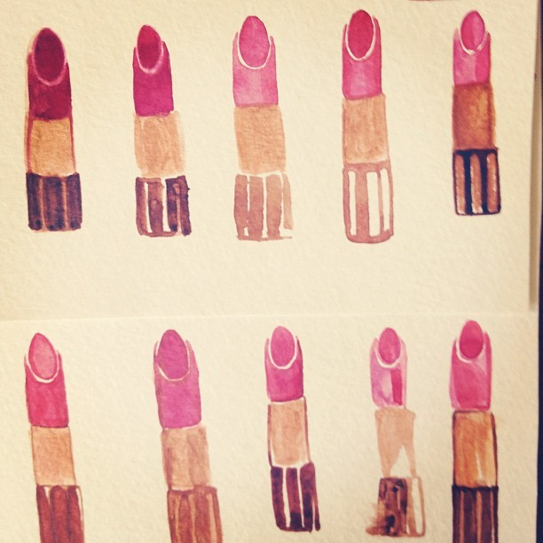 "What can best be described as ""my lipstick period"" (Taken with instagram)"