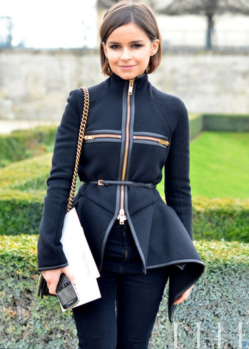 elle:  Street Style Trends Outstanding outerwear stole the show(s) in Paris. Photo: Courtney D'Alesio