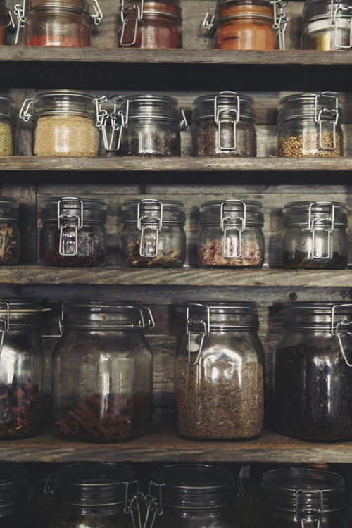 I would love to have this collection of spices. I have the same jars, so I guess I'm on my way :)