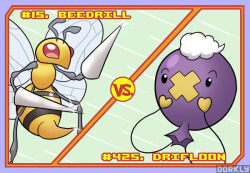 Beedrill vs. Drifloon
