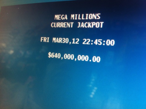 $640 million. Thats ALOT of money. If id hit the jackpot id buy my own island. lol