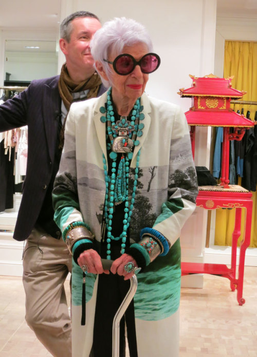 bergdorfgoodman:  A beautiful friendship: Dries Van Noten & Iris Apfel.