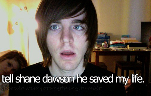 If I could wish for anything… I would wish I could tell Shane Dawson he saved my life.
