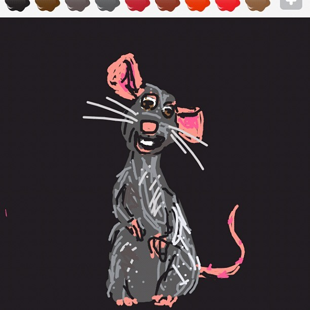Rat. #learn2drawsomething #drawsomething #drawsomethingdesigns  (Taken with instagram)