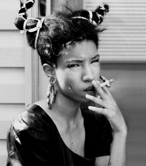 hair horns? I'll say yes. manifestfreedom:  Ntozake Shange is serving you afropunk realness. get into it. (via afropunk)