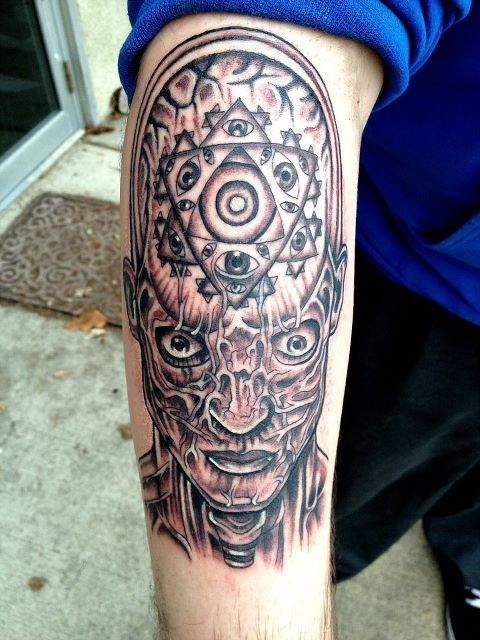 Alex Grey tattoo i did