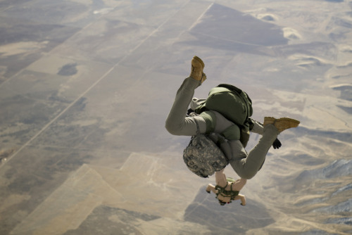 United States Army National Guard - Jumping off a C-23.