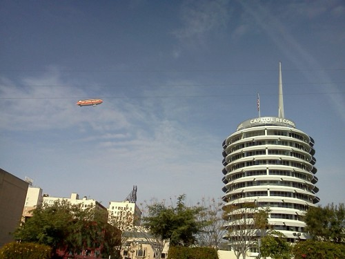 Nickelodeon had a blimp in Hollywood for the Kids' Choice Awards, the other day